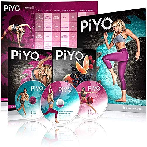 Qspeed PiYo DVD,Chalene Johnson Pilates Yoga Workouts Fitness Program