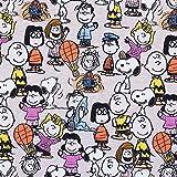 Baumwolljersey Peanuts Snoopy Bande sand - Preis gilt für