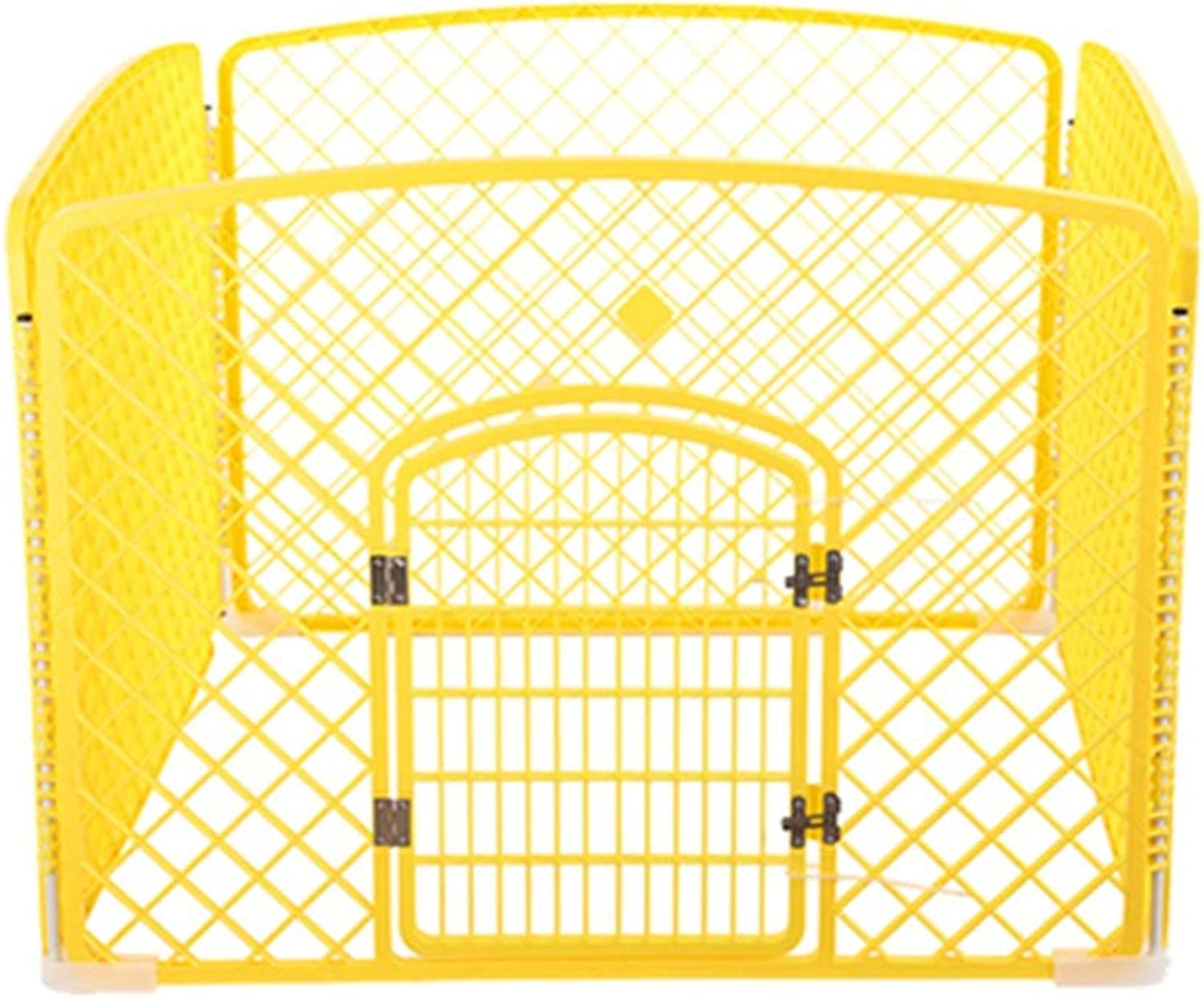 Pet Playpens Animal Fence Cage with Single Door, Portable Indoor Exercise Yard Kennel for Small Pets Houses (color   Yellow)