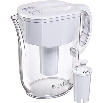Brita Everyday Pitcher with 1 Filter, w 1 std, White