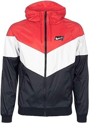 Nike Windcourirner Veste a Capuche, Rouge, L-48 50 pour Hommes