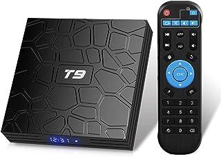 comprar comparacion Android TV Box, T9 Android 9.0 TV BOX 4GB RAM/32GB ROM RK3318 Quad-Core Media Box Soporte 2.4GHz/5.0GHz WiFi 64 bits H.265...