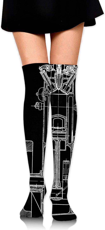 Eyeball Women Girl Thigh High Socks Over The Knee High Warm Stocking Boot Long Socks