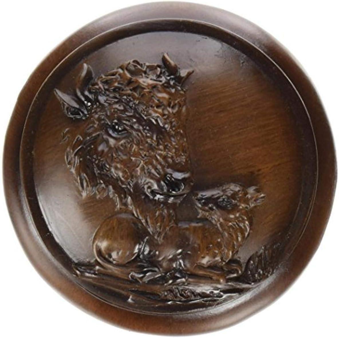 Genuine Free Shipping StealStreet Faux Wood Buffalo Cheap sale Jewelry Collectible De Box Trinket