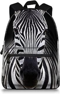 15 Inch Canvas 3D Animal Face Zebra Back Pack for School