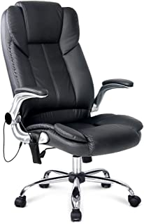 Artiss 8 Point Massage Executive Office Computer Chair Remote PU Leather Armrests Black