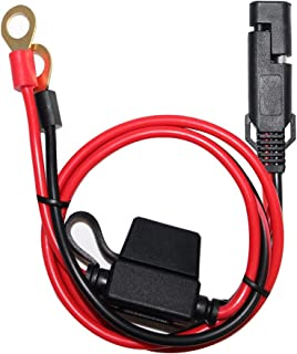 SPARKING 2FT SAE To Ring Terminal Harness Quick Connect/Disconnect Ring Terminal Assembly, 10A Fuse(2FT)