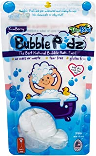 Sponsored Ad - TruKid Bubble Podz Care for Sensitive Skin - Yumberry Scented Wellness Bubble Bath for Kids - Pediatrician ...