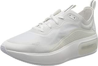 Nike Womens Air Max Dia Running Shoes (9.5,  White/Summit White/Metallic Silver)