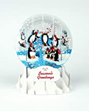 3D Pop Up Penguins Medium Snowglobe Christmas Card