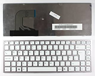 Keyboards4Laptops Sony Vaio VPCS13I7E Marco Rosa Blanco Layout Reino Unido Teclado de Repuesto para Ordenador portátil