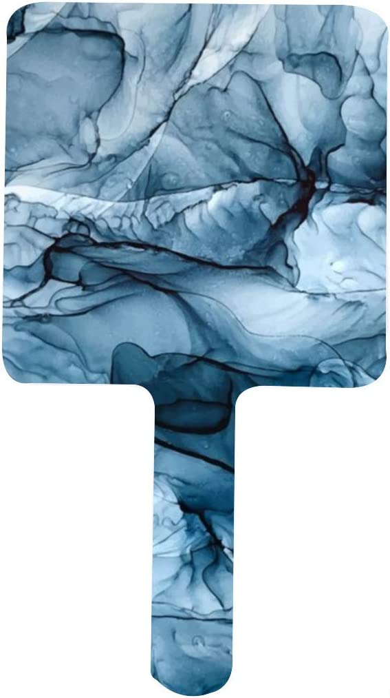 Churning Blue Ocean outlet Waves Sales for sale Abstract Portable Mirr Handle Painting