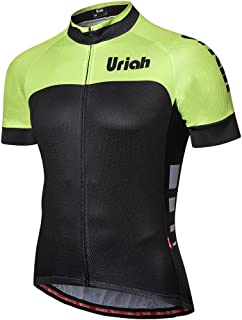 Uriah Men's Cycling Jersey Short Sleeve Reflective with Rear Zippered Bag