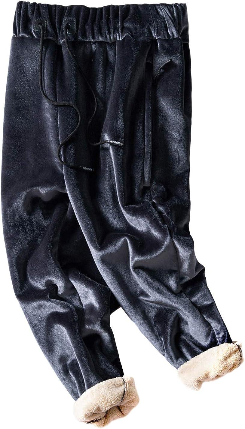 Gihuo Men's Winter Sherpa Max 40% OFF Lined Pants Fleece Under blast sales Sweatpants Jogger