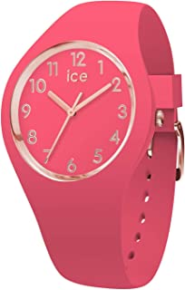 Ice-Watch - Ice Glam Colour Raspberry - Montre Rose pour Femme avec Bracelet en Silicone - 015331 (Small)