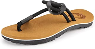 Z.L.FFLZ Men Sandals Men's Casual Thong Flip Flops Shoes Rope Beach Slippers Non-slip Soft Flat Sandals Guess (Color : Bro...