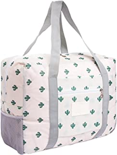 Foldable Travel Bag Tote Lightweight Waterproof Duffel Bag Carry Storage Luggage Portable Folding Bag by VAQM (cactus)