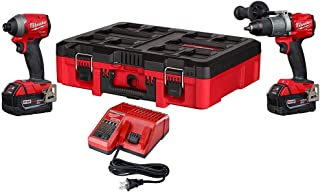 Milwaukee 2997-22PO M18 FUEL 18-Volt Lithium-Ion Brushless Cordless Hammer Drill and Impact Driver Combo Kit (2-Tool) with PACKOUT Case