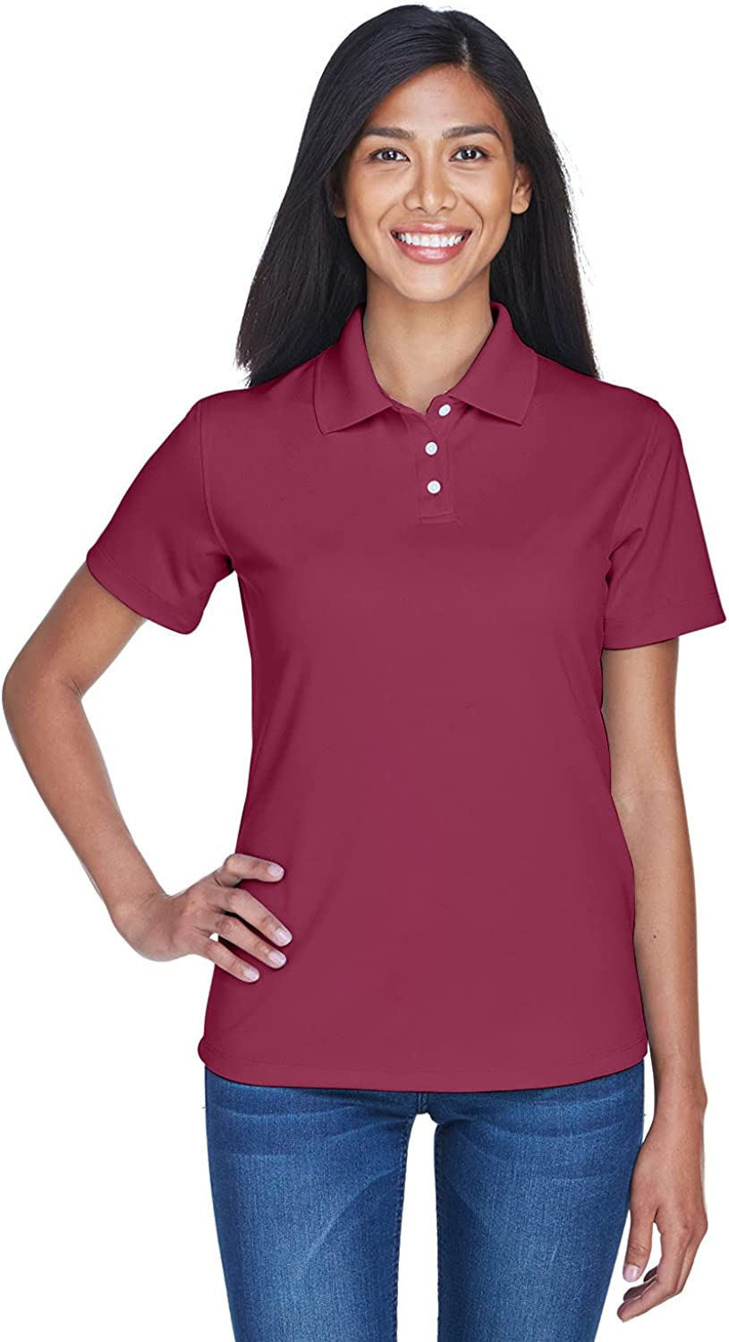 UltraClub Women's UV Protection Stain Release Performance Polo Shirt