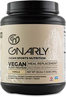 Gnarly Nutrition, Meal Replacement Vegan Protein Blend from Pea, Chia and Cranberry for Muscle Development, Vanilla, 16 Se...