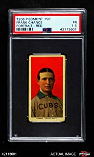 1909 T206 RED Frank Chance Chicago Cubs (Baseball Card) (Portrait with a Red Background) PSA 1.5 - FAIR Cubs