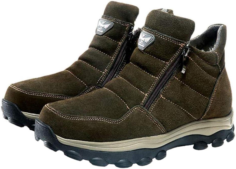 Men's Snow Boots Winter Men Super Warm Genuine Fur Plush Short Boot Military for Men shoes Large Size:38-44