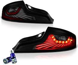VIPMOTOZ Black Smoke OLED Neon Tube LED Tail Light Lamp Assembly For 2003-2005 Infiniti G35 Coupe - CREE LED Backup Bulbs Included, Driver & Passenger Side