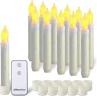 Raycare Lot de 12 bougies LED flottantes Harry Potter, sans flamme, à piles, pour décoration de fête de Saint-Valentin, ja...