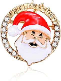 Christmas Brooch Pin for Christmas Decorations Ornaments Gifts Including,Santa Claus,Snowman,Garland,Reindeer,Hat,Socks