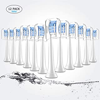 12 Pack Toothbrush Heads, Replacement Brush Heads Compatible with Philips Sonicare System, Fits 2 Series, 3 Series Gum Health. Diamondwhite, DiamondClean, Flexcare, Easyclean