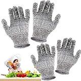 Guanti antitaglio per bambini, 2 paia di guanti da intaglio per bambini, protezione di livello 5, guanti da cucina di qualità alimentare (XXS e XS)