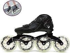 Zapatos de Patinaje de Velocidad Patines en Línea para Patines de Ruedas de una Hilera para Adultos Deportes para Recreación Física para Hombres y Mujeres Patines de Ruedasblack-44