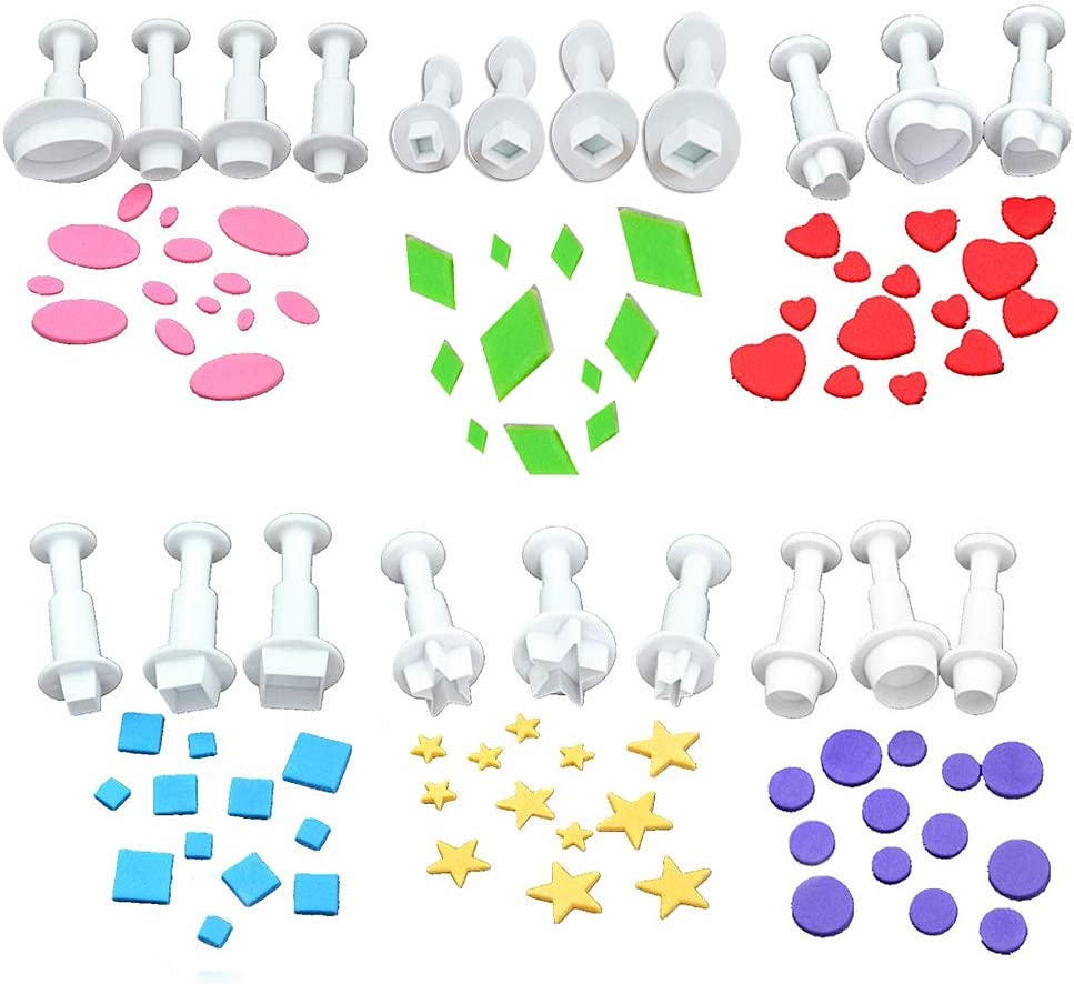 Cookie Cutters Plunger Cutter Ranking TOP17 OFFicial mail order Cake M Fondant Decorating Supplies