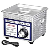 AW 1.3L(1/3 Gallon) Ultrasonic Cleaner 60W w/Timer Jewelry Eyeglass Tattoo Dental Home Health Care Stainless Steel