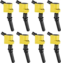 Ignition Coil 8 Pack For Ford Expedition Mustang Explorer Crown Victoria 4.6L 5.4L F-150 XL F250 F550 4.6/5.4L(yellow)