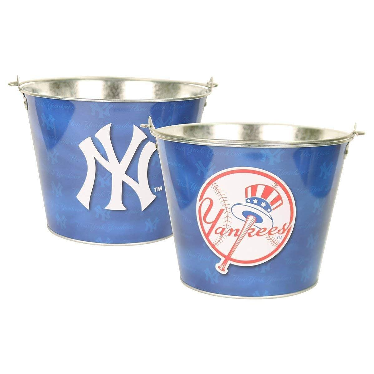 目的ポータブル集まるニューヨークヤンキースMLB公式ライセンスアルミアイスバケット