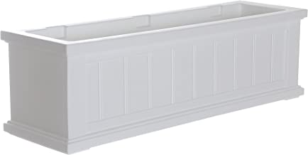 Mayne 4840-W Cape Cod Polyethylene Window Box, 3', White