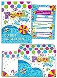 12 Einladungskarten Geburtstag Kinder Schwimmbad incl. 12 Umschläge für Mädchen Jungen Jungs Einladungen zum Kindergeburtstag Geburtstag Geburtstagseinladungen Set Partyset Kartenset Party