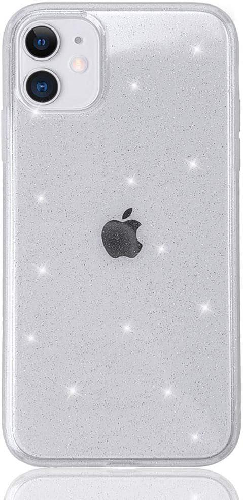 HUIYCUU Case for iPhone 11 Case Clear Glitter 6.1