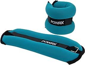 POWRX Gewichtsmanchetten Kay donker turquoise 2 x 1 kg (met zacht oppervlak)