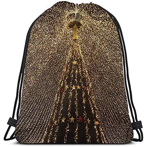 Lemotop slinger voor de kerstboom, lichte decoratie, personaliseerbare rugzak met trekkoord, voor sport, rugzakken, fitnessstudio, zakpack, reizen in de buitenlucht