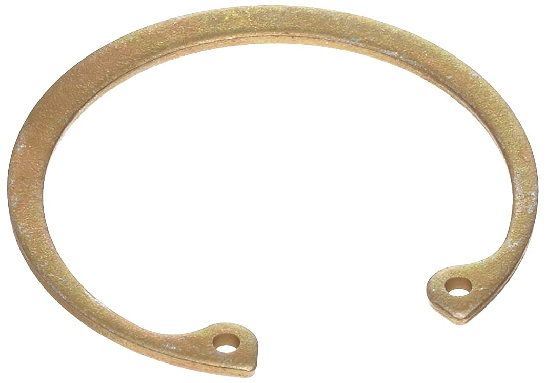 Standard Internal Retaining Ring, Tapered Section, SAE 1060-1090 Carbon Steel, Zinc Yellow Chromate Plated Finish, 5/8
