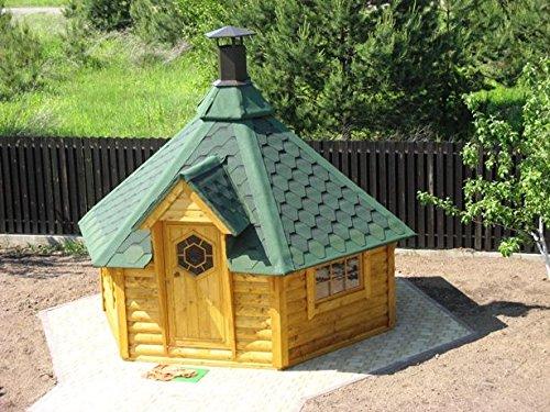 JUNIT SKF092V1 9,2 m2 Saunakota mit Vorraum, Fichte für ca. 6 Personen