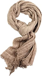 Runtlly Men's Soft Lightweight Scarves Warm Crinkle Fashion Warm Autumn Winter Scarf