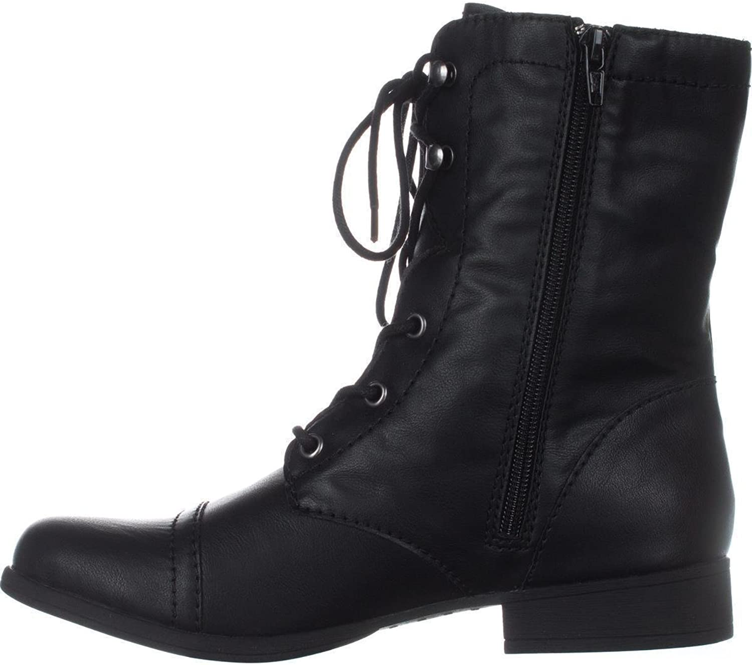 American Rag Womens Fionn Closed Toe Mid-Calf Combat Boots, Black, Size 7.0