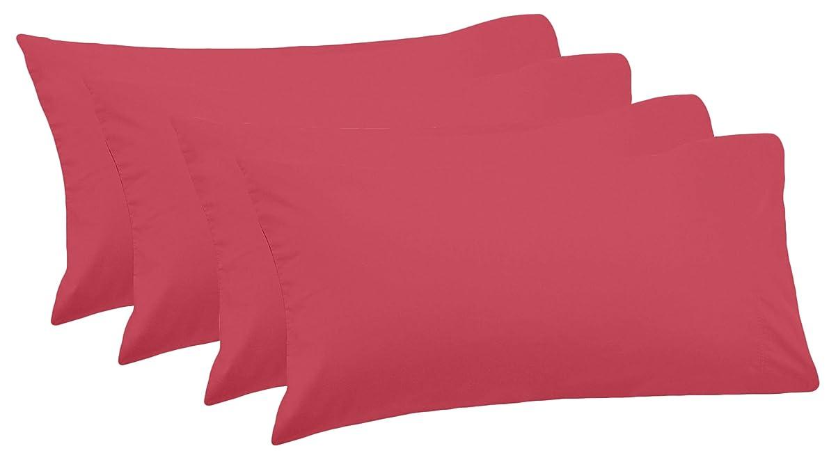 CASA COPENHAGEN Exotic 4 Pack Egyptian Cotton 800TC 20inch x 30inch Pillowcases, Multicolor B