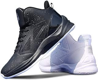 BEITA High Upper Basketball Shoes Men Sneakers Breathable Sports Shoes Anti Slip Tai Chi (1 Black & 1 White)