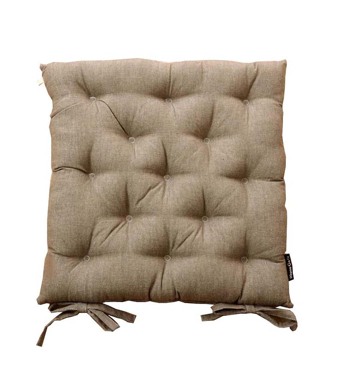 調査レンダリング汚れるイケヒコ?コーポレーション 座布団 ブラウン サイズ:約40×40cm 2P