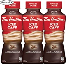 Tim Horton's Iced CAPP Mocha, 340 ml/11.5oz., Pack of 3, {Imported from Canada}
