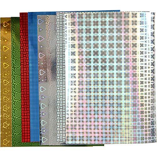 Hologramm Papier, A4 21x30 cm, 120 g, 8sort. Blatt